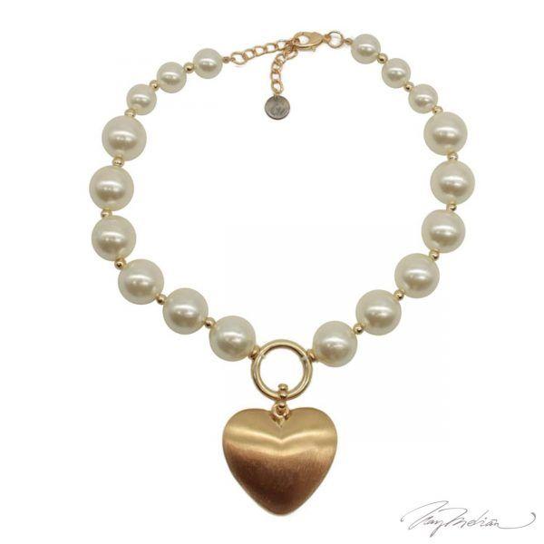Collar Perlas y Corazón Colección Cervantes