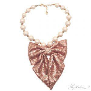 Collar Perlas y Lazo 2 Colección Cervantes