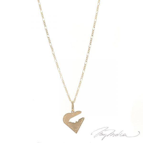 Collar CORAZ3 Oro Laminado de 18K de la colección Alcalá de Henares