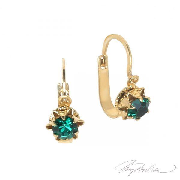 Pendientes Antiq Verde de Oro Laminado de 18K de la colección Alcalá de Henares